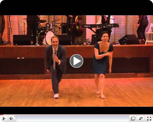 Syke Humphries & Naomi Uyama performing at Uptown Swing Dance with Gordon We