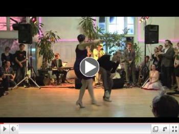 Skye Humphries & Naomi Uyama performing at Uptown Swing Dance
